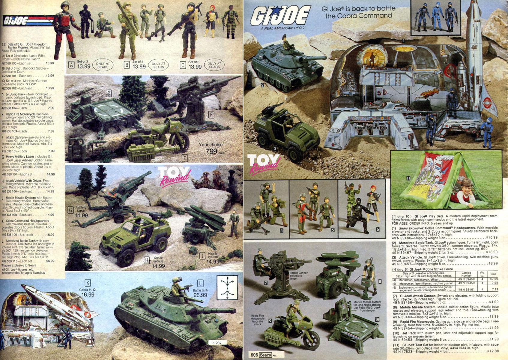 Vintage GI Joe 1986 Catalog